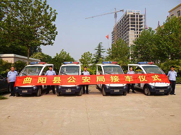 本月10日,河北新宇宙电动车有限公司的 跃迪移动警务室发往高清图片