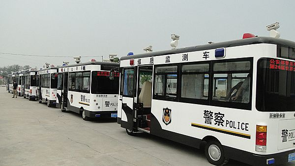 移动警务室 流动警务室 电动轿车 电动巡逻车 跃迪电动车高清图片