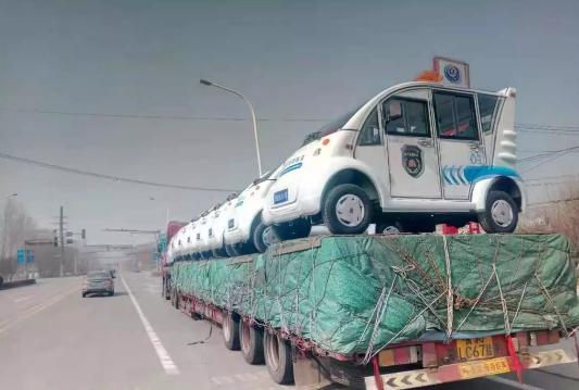 金豪棋牌网站电动巡逻车批量发往宁夏地区